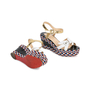 Authentic Pre Owned Christian Louboutin Laoga 70 Wedge Sandals (PSS-566-00078) - Thumbnail 3