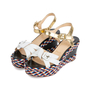 Authentic Pre Owned Christian Louboutin Laoga 70 Wedge Sandals (PSS-566-00078) - Thumbnail 4