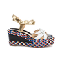 Authentic Pre Owned Christian Louboutin Laoga 70 Wedge Sandals (PSS-566-00078) - Thumbnail 1