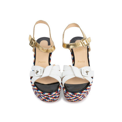 Authentic Pre Owned Christian Louboutin Laoga 70 Wedge Sandals (PSS-566-00078)