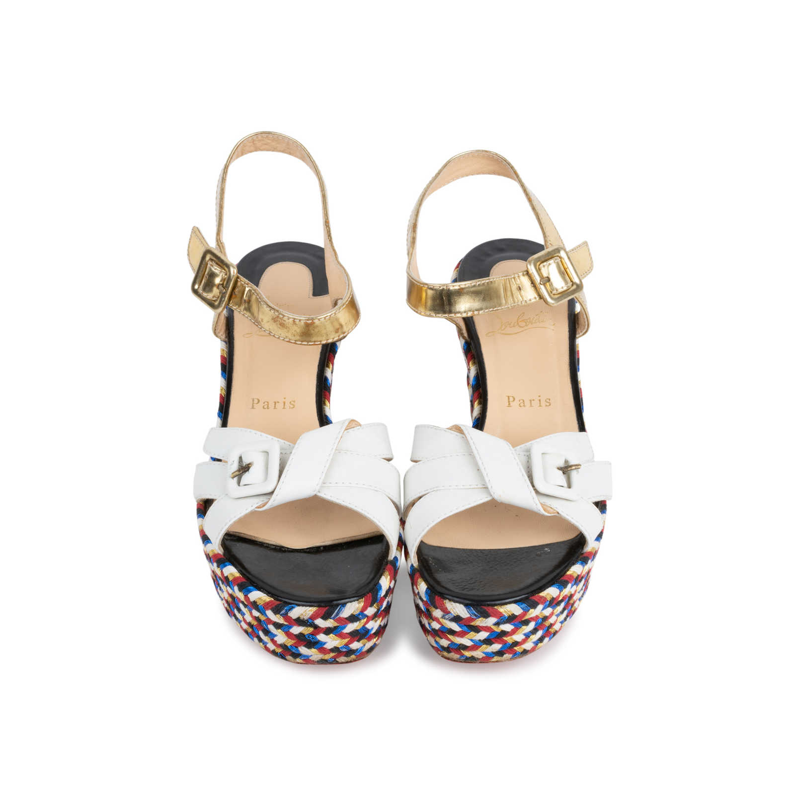 18c3be96cf6 Authentic Second Hand Christian Louboutin Laoga 70 Wedge Sandals  (PSS-566-00078) ...