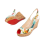 Authentic Second Hand Christian Louboutin Une Plume Hawaii Slingback Sandals (PSS-566-00108) - Thumbnail 1