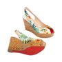 Authentic Second Hand Christian Louboutin Une Plume Hawaii Slingback Sandals (PSS-566-00108) - Thumbnail 2