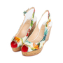 Authentic Second Hand Christian Louboutin Une Plume Hawaii Slingback Sandals (PSS-566-00108) - Thumbnail 3
