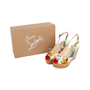 Authentic Second Hand Christian Louboutin Une Plume Hawaii Slingback Sandals (PSS-566-00108) - Thumbnail 6