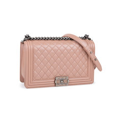 Chanel new medium boy bag pink 5?1542692382