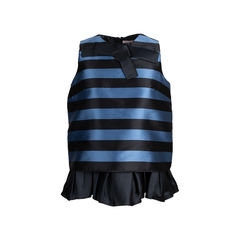 Striped Peplum Bolouse