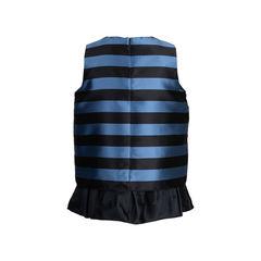 Dice kayek pink label ribbon detail striped blouse 2?1542696561