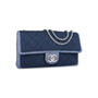 Authentic Pre Owned Chanel Denim Flap Bag with Chanel Charm (PSS-136-00047) - Thumbnail 1