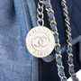 Authentic Pre Owned Chanel Denim Flap Bag with Chanel Charm (PSS-136-00047) - Thumbnail 4