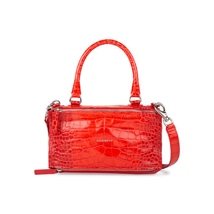 Authentic Pre Owned Givenchy Crocodile Embossed Pandora Bag (PSS-580-00004)