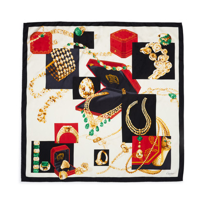 Authentic Pre Owned Cartier Jewellery Printed Scarf (PSS-434-00017)