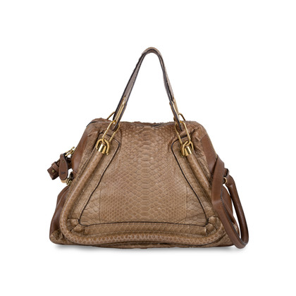 Authentic Second Hand Chloé Medium Snakeskin and Leather Paraty (PSS-580-00003)