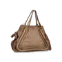 Authentic Second Hand Chloé Medium Snakeskin and Leather Paraty (PSS-580-00003) - Thumbnail 1