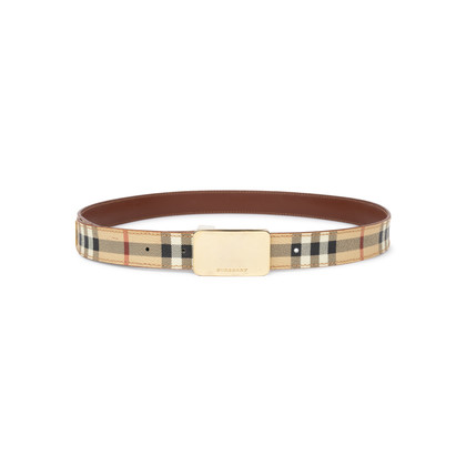 Authentic Second Hand Burberry Haymarket Check Belt (PSS-583-00001)