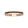 Authentic Pre Owned Burberry Haymarket Check Belt (PSS-583-00001) - Thumbnail 0