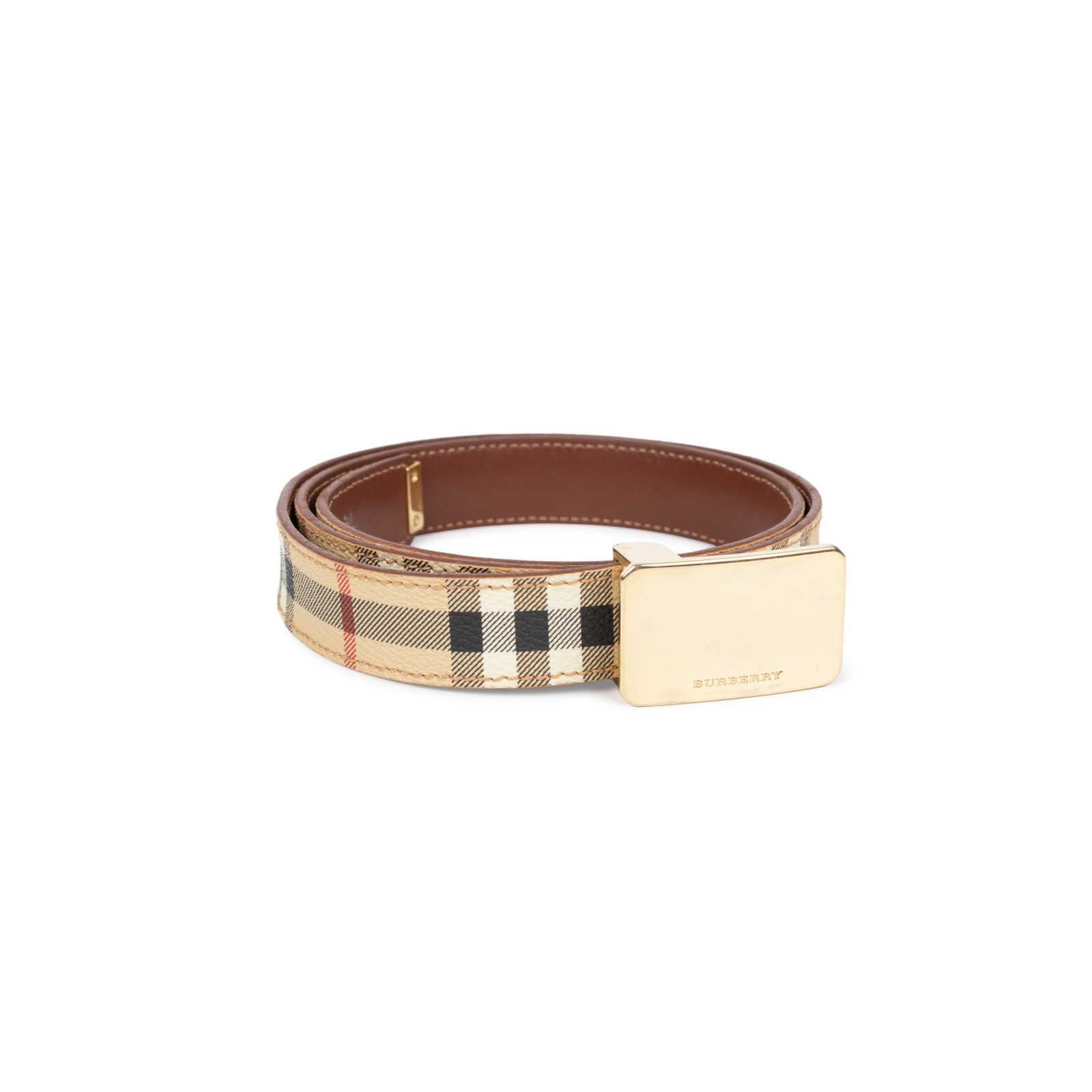 ... Authentic Second Hand Burberry Haymarket Check Belt (PSS-583-00001) -  Thumbnail ... 35db444f592c4