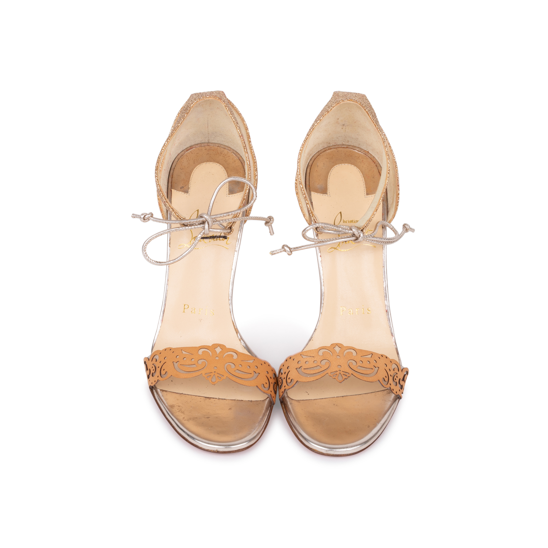 fa7b8a544226 Authentic Second Hand Christian Louboutin Valnina Laser Cut Sandals  (PSS-583-00003)