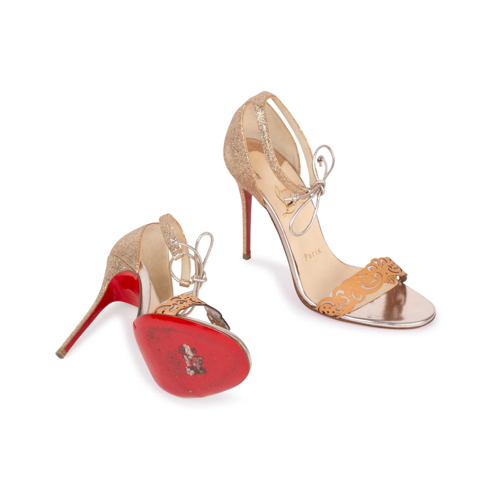 2013759ebd71 ... Authentic Second Hand Christian Louboutin Valnina Laser Cut Sandals  (PSS-583-00003) ...