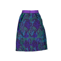 Red valentino abstract printed skirt 2?1543472492