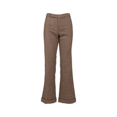 Wide-Legged Houndstooth Trousers