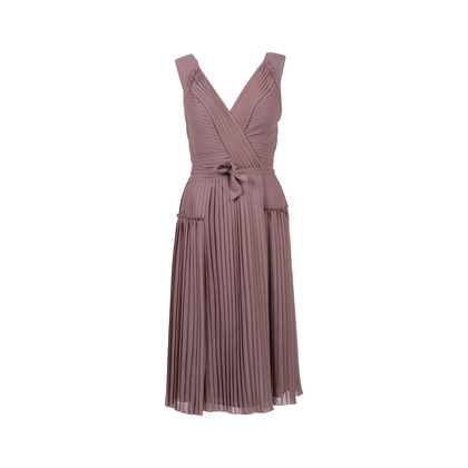 Authentic Second Hand Burberry Pleated Wrap Dress (PSS-564-00012)