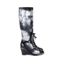 Authentic Second Hand Chanel Distressed Paint Suede High Boots (PSS-200-01553) - Thumbnail 1