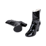 Authentic Pre Owned Chanel Patent Fur Lined Boots (PSS-200-01539) - Thumbnail 1