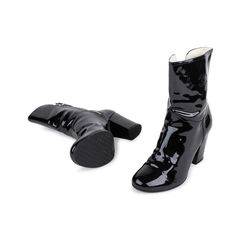 Chanel patent fur lined boots 2?1543566233