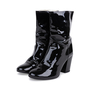 Authentic Pre Owned Chanel Patent Fur Lined Boots (PSS-200-01539) - Thumbnail 3