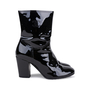 Authentic Pre Owned Chanel Patent Fur Lined Boots (PSS-200-01539) - Thumbnail 4