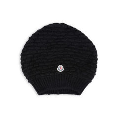 Black Alpaca Long Beanie