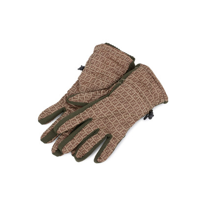 Authentic Second Hand Fendi Kids Monogram Gloves (PSS-200-01557)