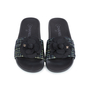 Authentic Second Hand Chanel Tweed Camellia Pool Slides (PSS-200-01555) - Thumbnail 0