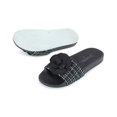 Chanel tweed camellia pool slides 2?1543998456