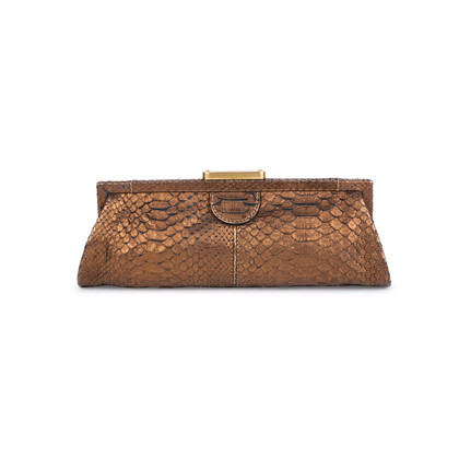 Authentic Pre Owned Chloé Python Frame Clutch (PSS-200-01569)