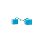 Authentic Second Hand Louis Vuitton Turquoise Hair Cubes (PSS-200-01571) - Thumbnail 1