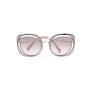 Authentic Pre Owned Miu Miu Brown/Pink Cut Out Square Sunglasses (PSS-200-01580) - Thumbnail 0