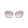 Authentic Pre Owned Miu Miu Brown/Pink Cut Out Square Sunglasses (PSS-200-01580) - Thumbnail 4