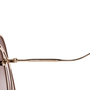 Authentic Pre Owned Miu Miu Brown/Pink Cut Out Square Sunglasses (PSS-200-01580) - Thumbnail 6
