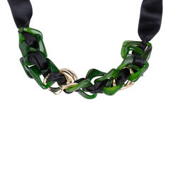 Marni chainlink ribbon necklace 2?1544080032
