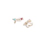 Authentic Pre Owned Chanel I Love CC Double Earrings (PSS-328-00014) - Thumbnail 1