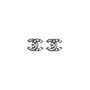 Authentic Second Hand Chanel Logo Stud Earrings (PSS-577-00001) - Thumbnail 0