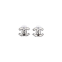 Authentic Second Hand Chanel Logo Stud Earrings (PSS-577-00001) - Thumbnail 2