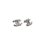 Authentic Second Hand Chanel Logo Stud Earrings (PSS-577-00001) - Thumbnail 3