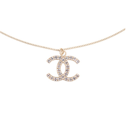 Authentic Second Hand Chanel Crystal Pendant Necklace (PSS-577-00004)