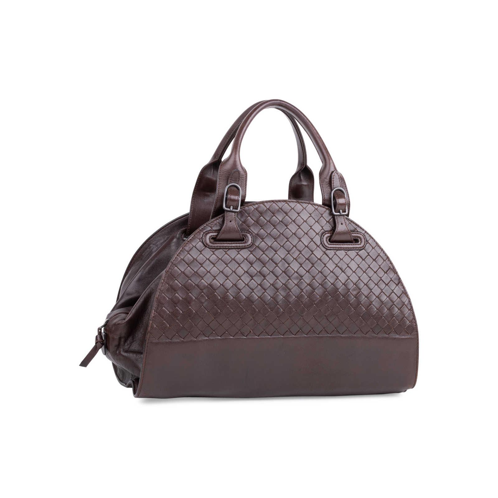 beb4a29c6958f ... Authentic Second Hand Bottega Veneta Woven Bowler Bag (PSS-577-00011)  ...