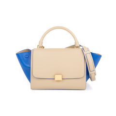 Coloured Trim Trapeze Bag