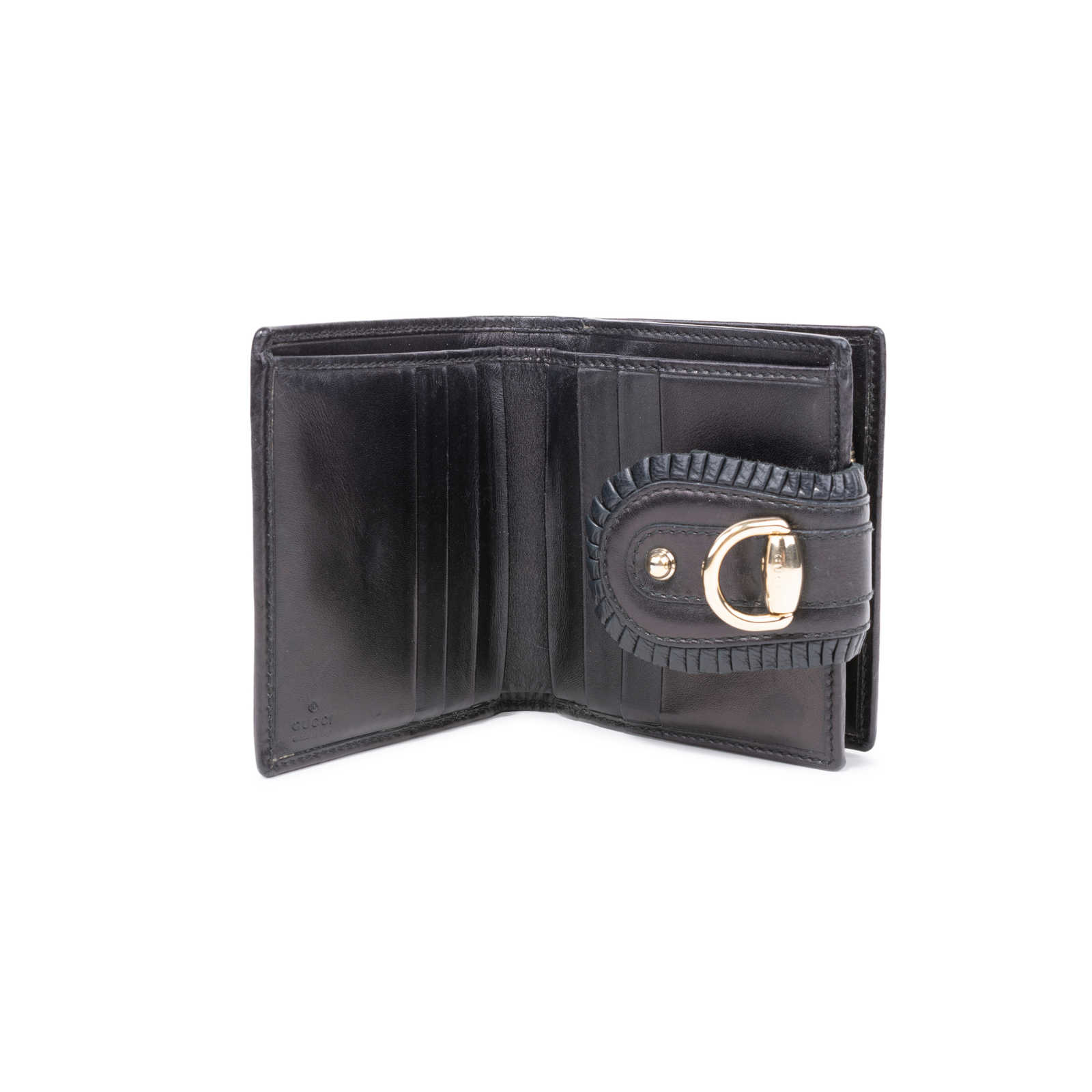 63ecdc611ee ... Authentic Second Hand Gucci D-Ring Leather Wallet (PSS-591-00002) ...