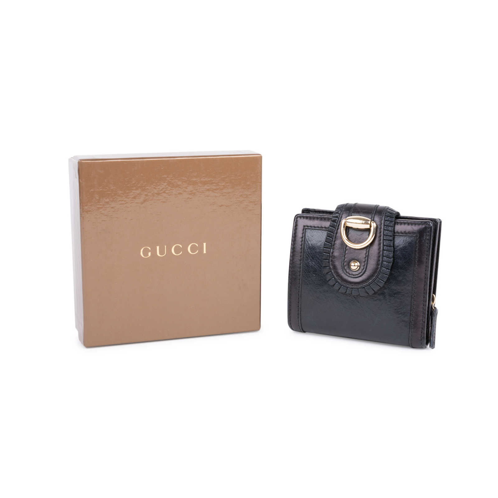 79f2137a039 ... Authentic Second Hand Gucci D-Ring Leather Wallet (PSS-591-00002)